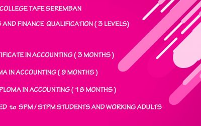 AAT ACCOUNTING AND FINANCE QUALIFICATION AT TAFE SEREMBAN